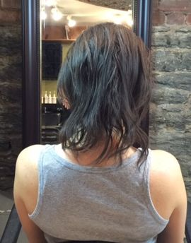 Sew in Hair Extensions NYC Before Photo