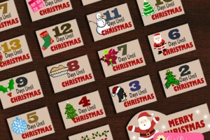 Free Printable Christmas Countdown Stickers