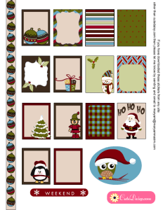 Christmas Stickers Sampler Kit for Planners