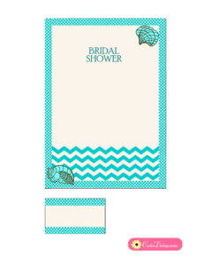 Beach Bridal Shower Invitation in Aqua Color