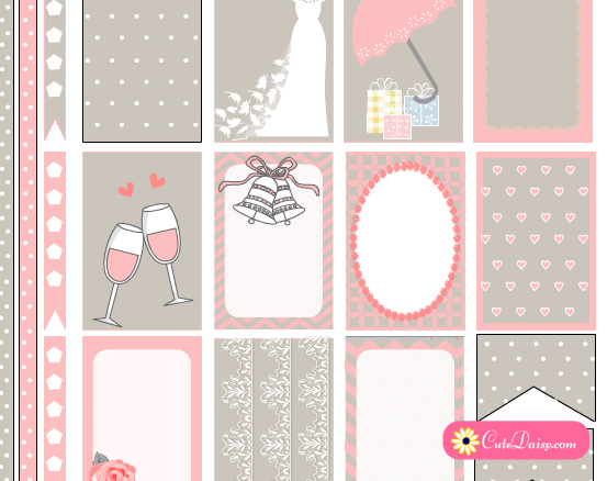 Free Printable Wedding themed Planner Stickers