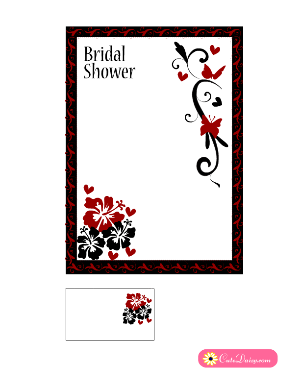 Red White And Black Wedding Invitations as perfect invitations template