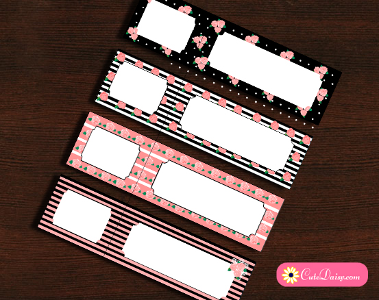 Free Printable Shabby Chic Address Labels
