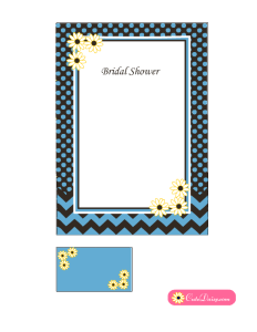Free Printable Spring Bridal Shower Invitation Template in Blue Color