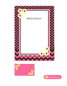 Free Printable Spring Bridal Shower Invitation Template in Pink Color