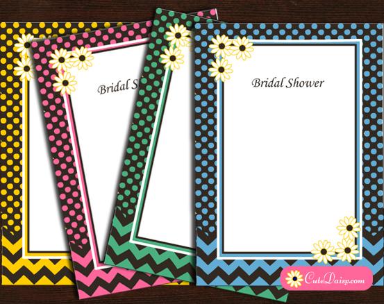 Free Printable Spring Bridal Shower Invitations