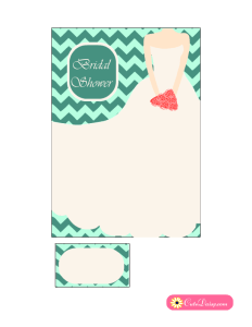 Bridal Shower Invitation in Mint and Green Color