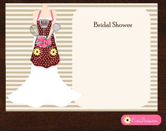 Free Printable Kitchen Bridal Shower Invitations