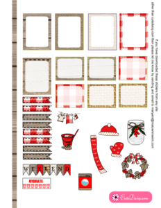 Free Printable Rustic Christmas Stickers for ECLP 1