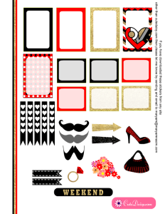 Free Printable Valentine Stickers for Happy Planner 1