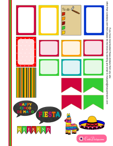 Mexican Stickers for Classic Happy Planner page 2