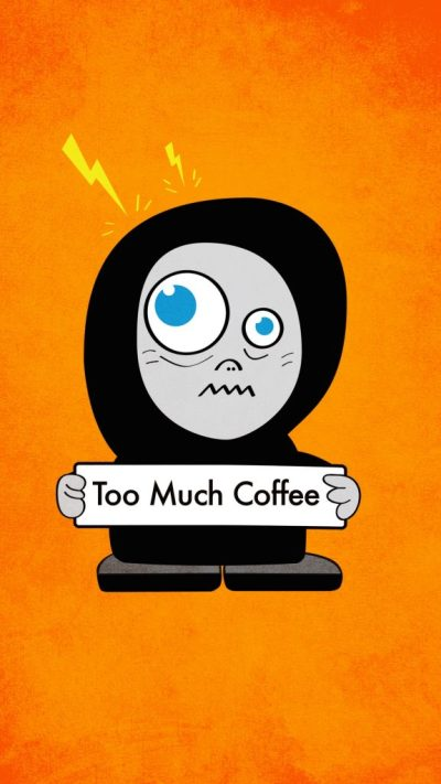 Funny Coffee Character Cartoon - Cute Strange Creatures