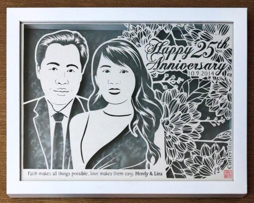 Cutteristic - Wedding Gift 25 Anniversary 1