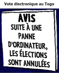 Vote électronique au Togo