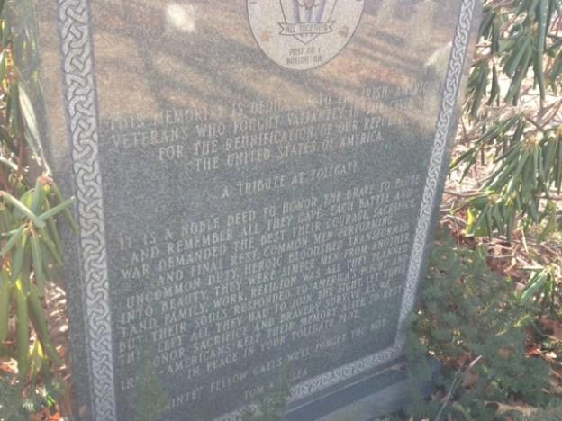 Tollgate Cemetery Monument