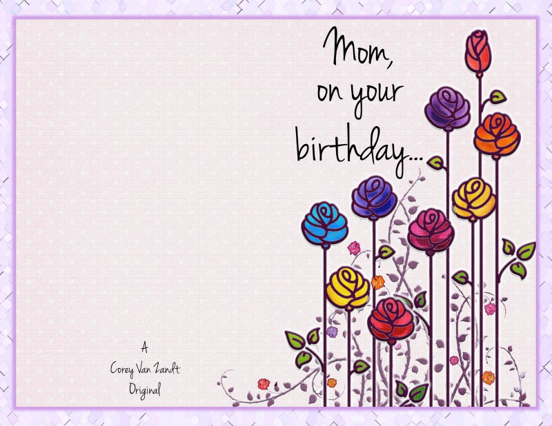 Large Of Birthday Card Template