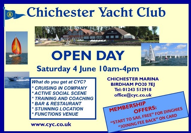 Come and Visit your local Yacht Club on our Open Day