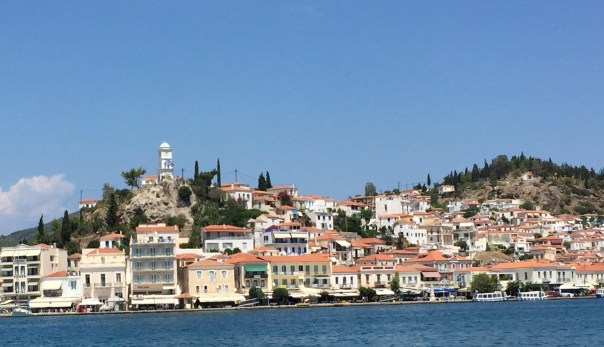 The town of Poros as seen from the ferry.