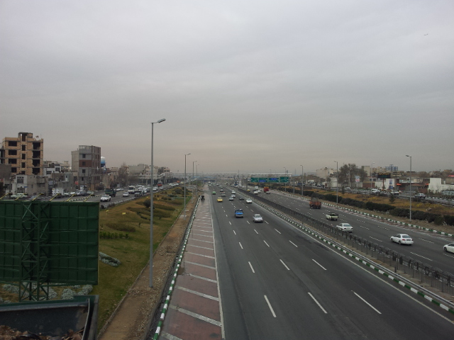 The choice of roads after leaving the motorway