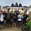 Some of the Pedal Attach boys outside the Krisha Temple in Imphal.