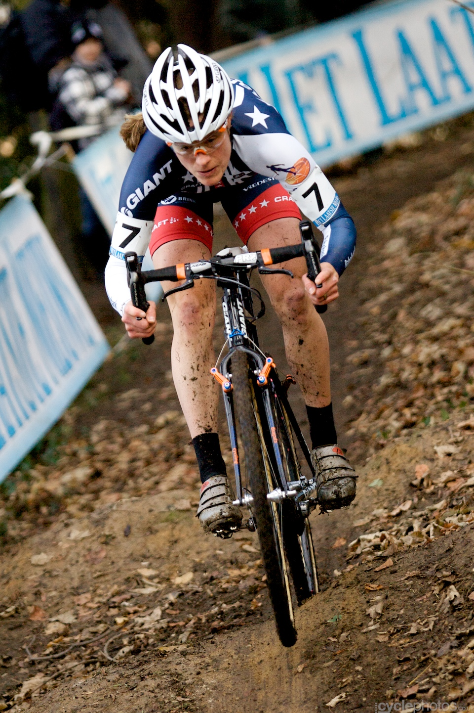 Katie Compton was fast on the climbs and the descents.