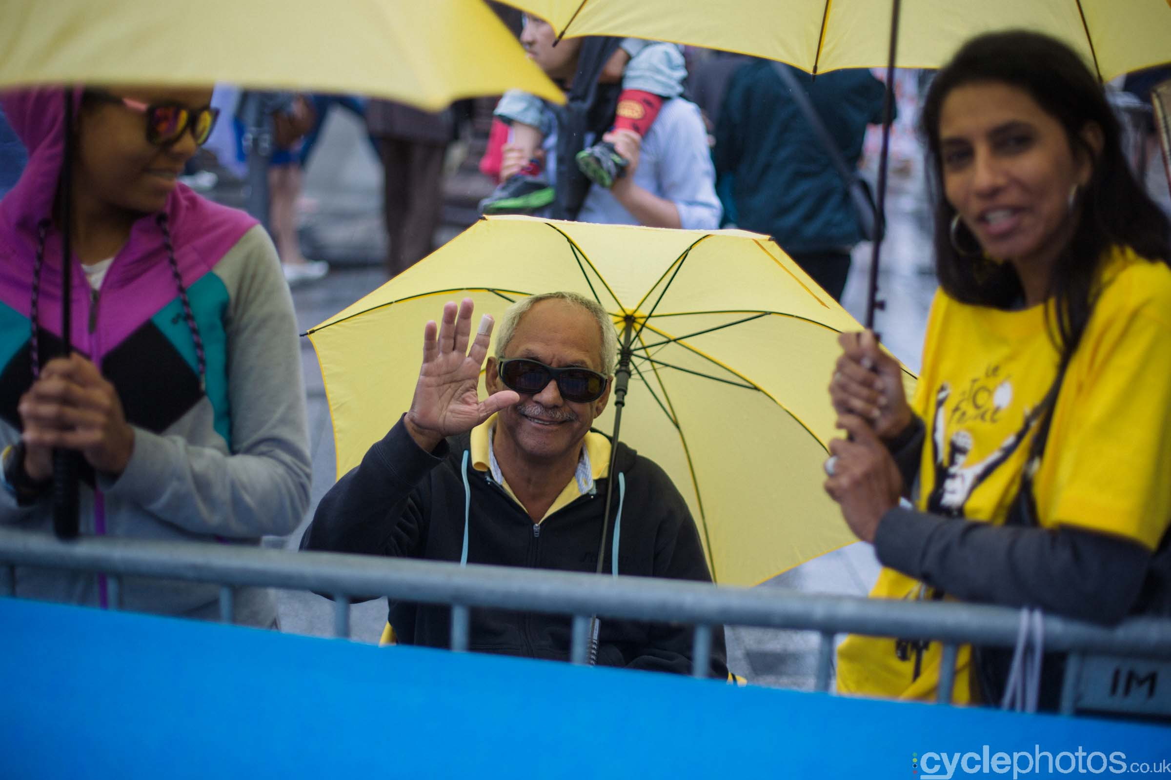 Fans during the 2015 edition of the La Course by Le Tour women's road cycling race.