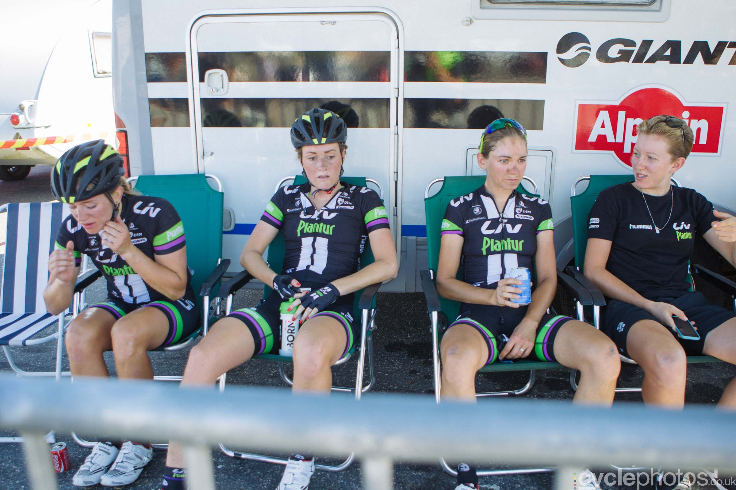 Liv-Plantur riders after the 2015 edition of the Vargarda women's World Cup race