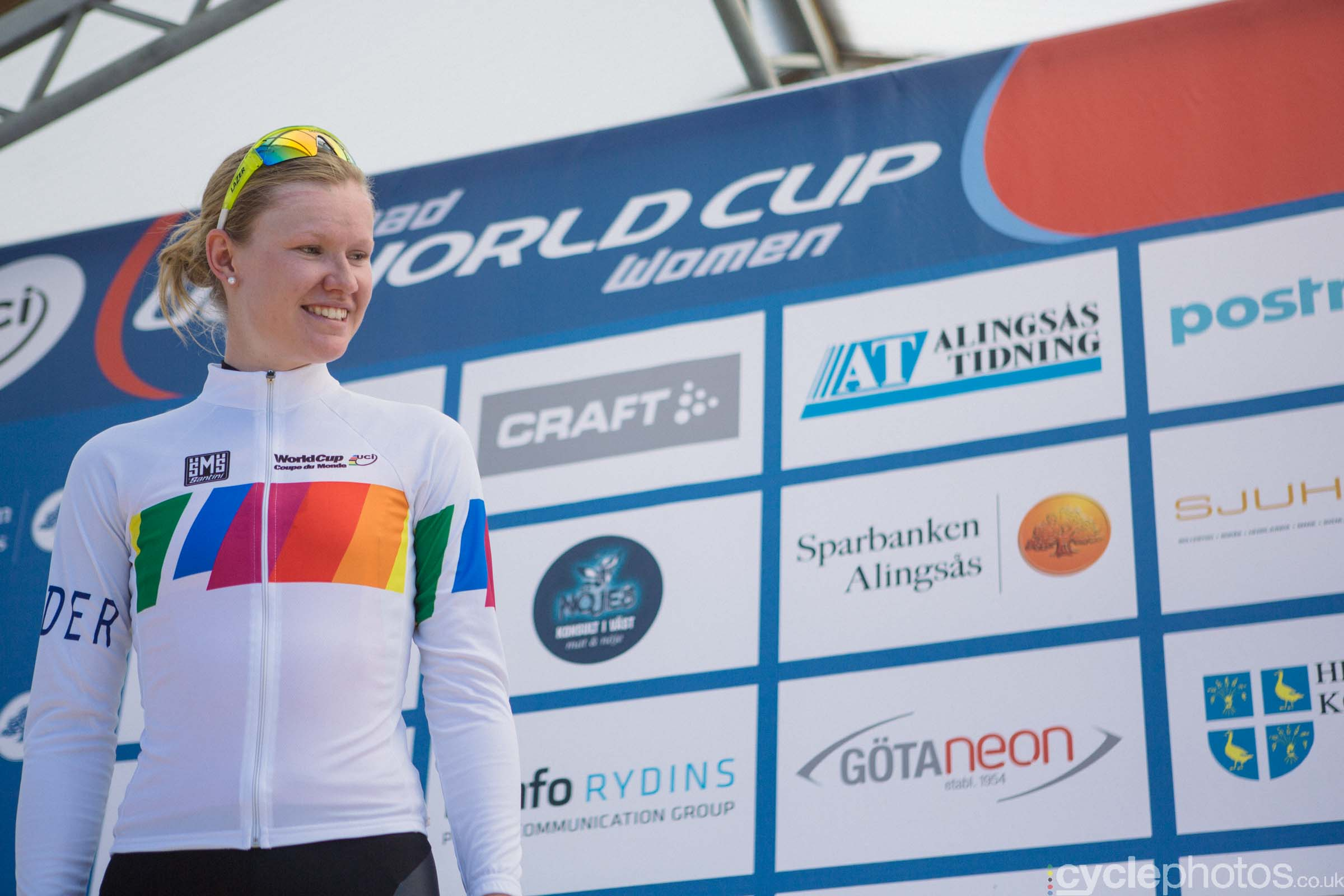 The new leader of the World Cup, Jolien D'Hoore
