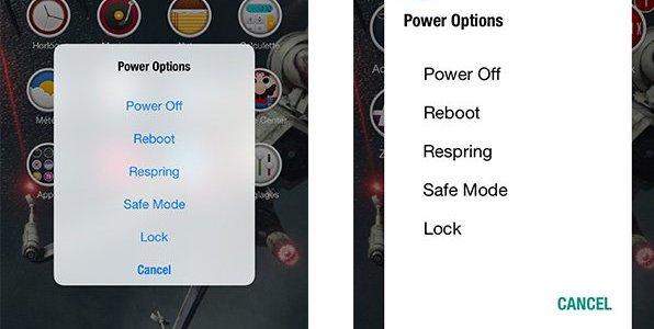 Джейлбрейк-твик PowerDown Customizer добавляет больше опций в интерфейс выключения iPhone