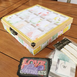DIY craft storage box