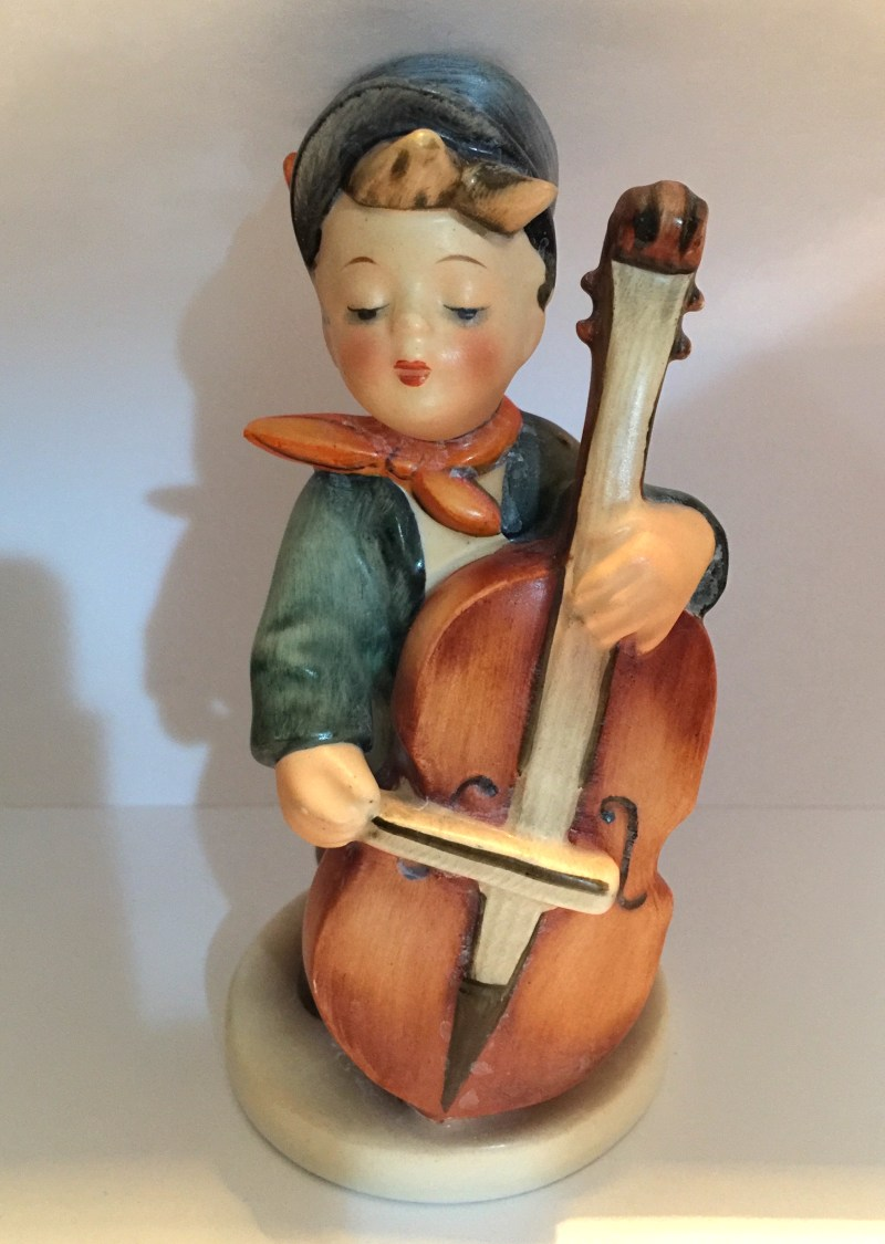 "Hummel Figurine: Boy with Cello, ""Sweet Music"""