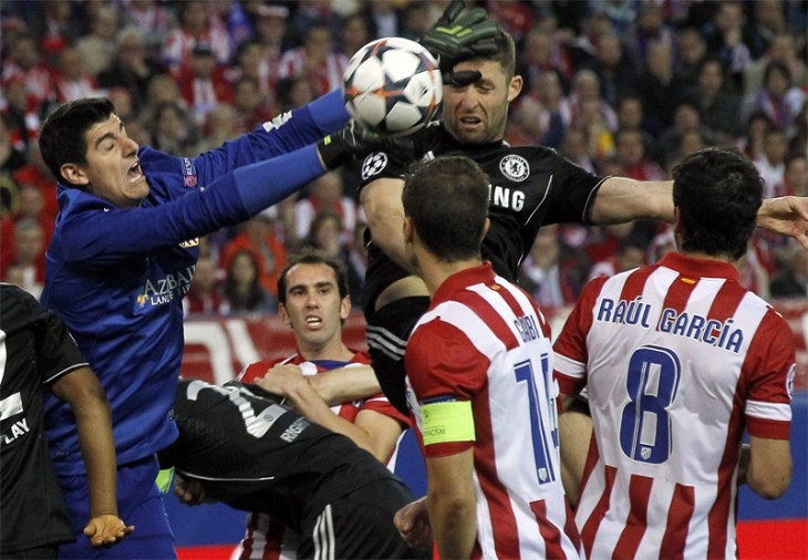 Atletico frustrated by defence-minded Chelsea