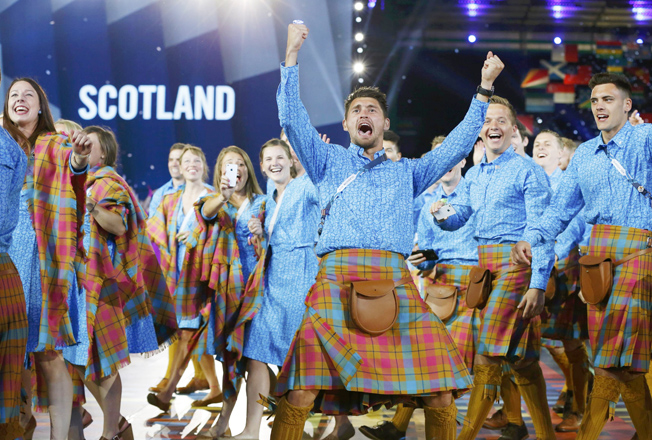 Tartan-tastic ceremony opens Glasgow Games