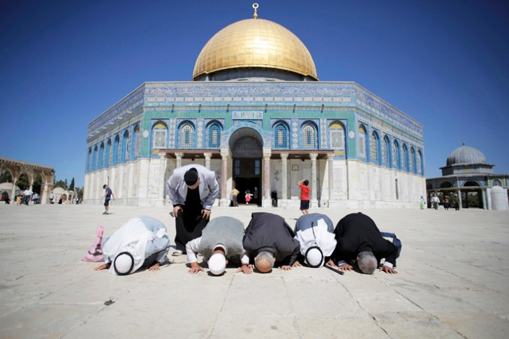 Muslim men over 50 return to Jerusalem's Aqsa mosque, tension high