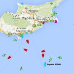 Turkish survey vessel off Cape Greco
