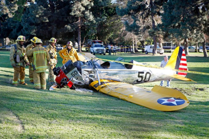 Actor Harrison Ford injured in small-plane crash in Los Angeles