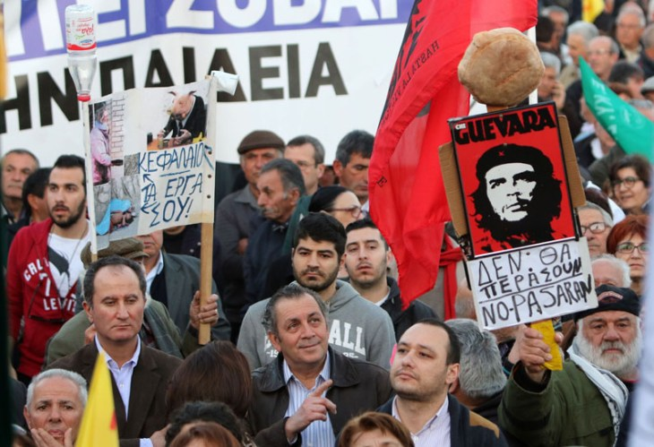 Anti-austerity demo welcomes Draghi to Cyprus