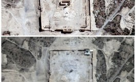 Satellite images show Islamic State destroyed major temple at Palmyra