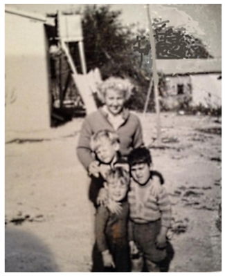 ina Archibald with the boys Robert, David and Eren Erdogan