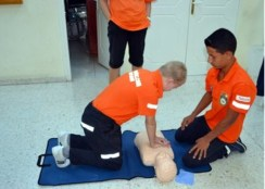 CESV Training with new equipment
