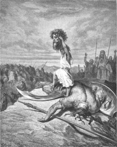 Gustave Doré David Slays Goliath