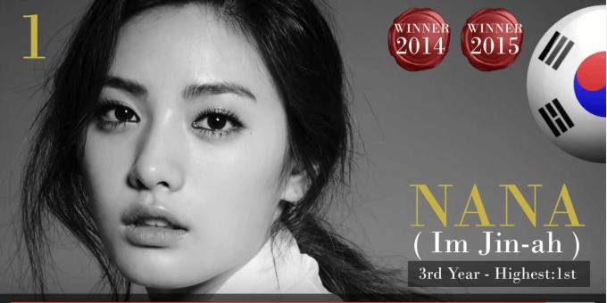 ナナ 韓国 世界で最も美しい顔100人