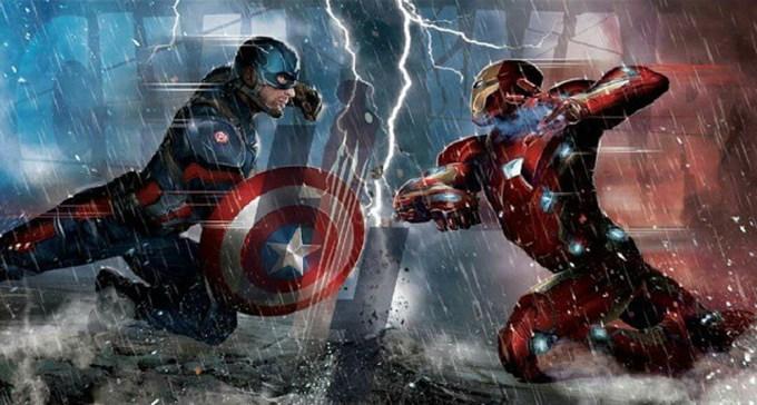 マーベル映画シビルウォー(キャプテンアメリカ3)の見どころ、アイアンマンvsキャプテンアメリカ