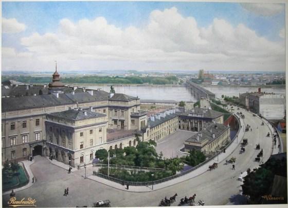Wjazd na Most Kierbedzia