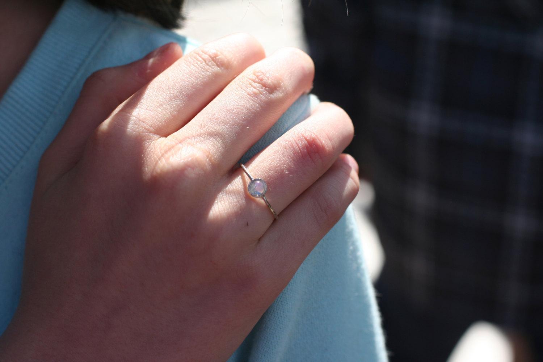 rainbow moonstone ring in 14k white gold moonstone engagement ring anniver moonstone wedding ring sets Rainbow Moonstone ring in 14k white gold moonstone engagement ring anniversary precious gift