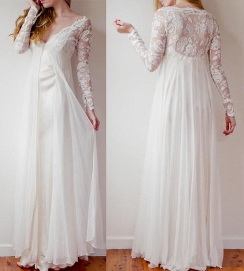 Medium Of Flowy Wedding Dress