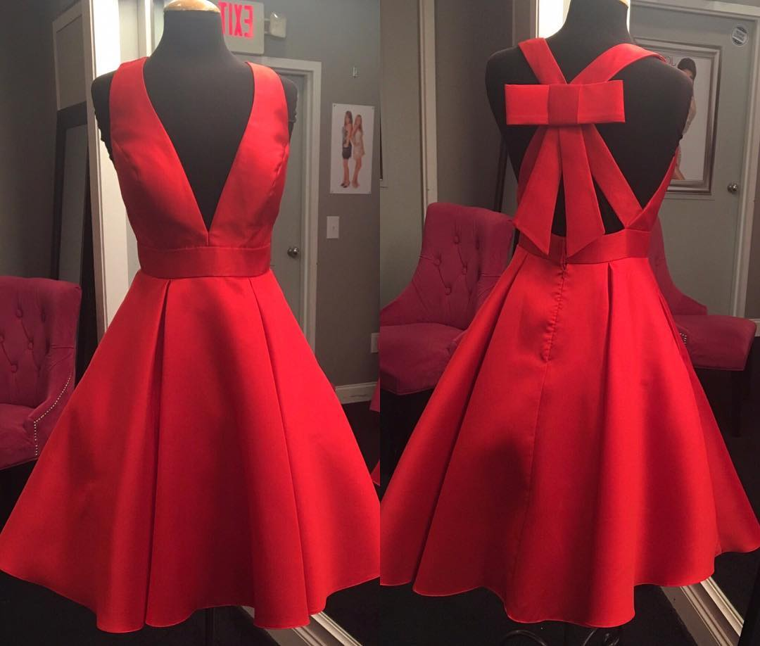 Howling Red Deep V Neck Short Prom Red Homecoming Dress Red Deep V Neck Short Prom Red Homecoming Dress Dream Short Red Dresses Uk Short Red Dress Australia wedding dress Short Red Dress