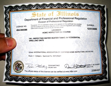 State of Illinois Department of Financial and Professional Regulation issues InterNACHI more ...