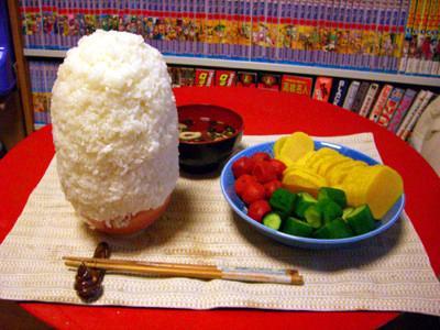 まんが日本昔ばなし風ご飯定食
