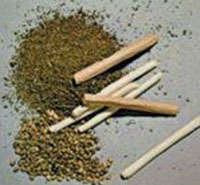 Photo of dried marijuana and joints.